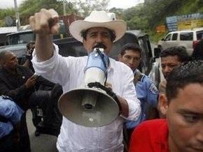 Селайя разбил лагерь возле границы Гондураса