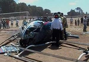 В Гватемале вертолет упал на футбольное поле