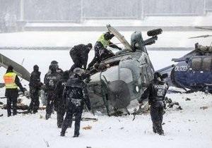 В небе над Берлином во время учений столкнулись два полицейских вертолета