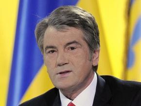 Сегодня Ющенко откроет ледовый дворец спорта
