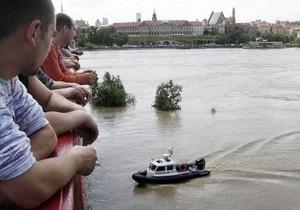 Уровень воды в Висле повысился еще на 14 см. Варшаву начинает затапливать