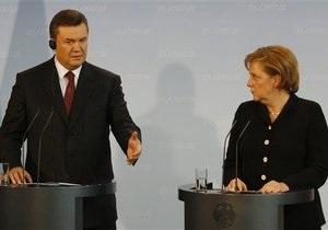 Меркель пригласила Януковича в Берлин