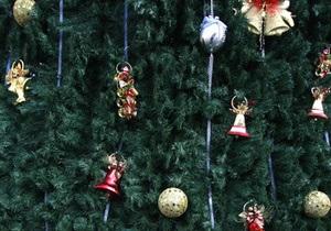 В Верховной Раде установили новогодние елки