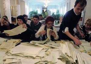 Данные 55% протоколов: УДАР сокращает отставание от КПУ, Свобода - набирает голоса