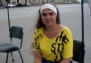 Харьковская журналистка, протестующая против языкового закона, прекратила голодовку
