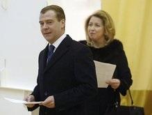 Медведевы уже проголосовали