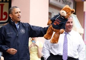 Новости США - Обама - Губернатор Нью-Джерси выиграл для Обамы плюшевого медвежонка