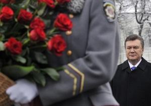 Янукович возложил цветы к памятнику Тарасу Шевченко в Киеве