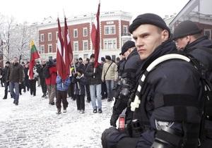В Риге прошло шествие бывших легионеров СС