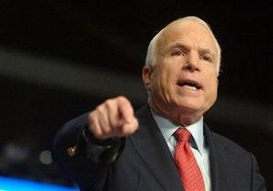 Маккейн призвал рассмотреть вопрос военного вмешательства в Сирии