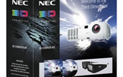 В России поступила в продажу первая партия NEC 3D Starter Kit