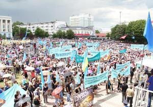 новости Крыма - крымские татары - Участники митинга памяти депортации крымских татар требуют немедленной отставки Могилева