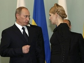 Тимошенко и Путин договорились о транзите газа и переходе Украины на рыночную цену