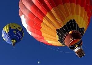 Падение воздушного шара с новобрачными - видео