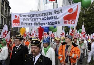 Около 100 тысяч человек вышли на акцию протеста в Брюсселе