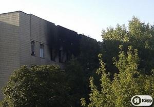 В Киеве ликвидирован пожар в админздании ВСУ
