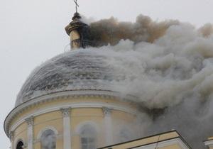 Пожар в старинном соборе в Болграде разгорается с новой силой
