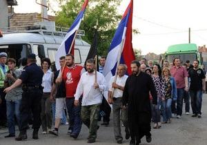 В нескольких сербских городах прошли акции протеста, связанные с арестом Младича