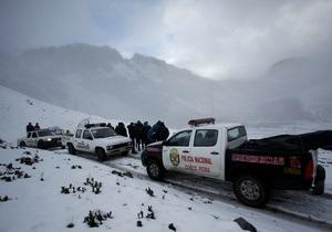 В горах Перу пропал вертолет с иностранными туристами