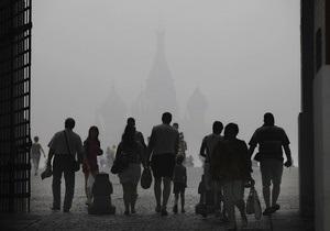Смог в Москве снова сгущается