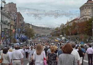 В центре Киева начался праздничный концерт