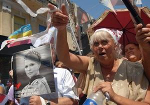 В БЮТ заявляют, что проводят на Крещатике прием граждан, а не акцию протеста
