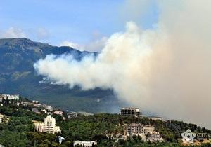 В Крыму из-за крупного пожара перекрыли дорогу на Ай-Петри