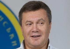 Янукович поздравил жителей Енакиево с Днем города