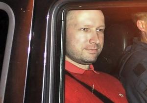 Брейвику выделили три камеры в норвежской тюрьме