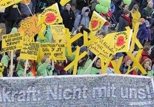 Десять тысяч человек протестуют против ввоза в Германию атомных отходов