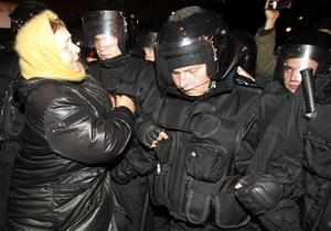 Фотогалерея: Милиция с народом. Вечерние столкновения на митинге оппозиции