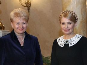 Тимошенко встретилась с президентом Литвы: Я всегда поддерживаю сильных женщин
