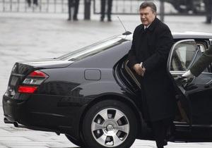 Янукович распорядился пересмотреть правила передвижения своего кортежа