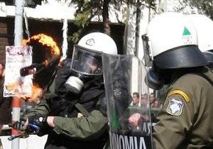 После столкновений в Афинах полиция задержала 16 человек