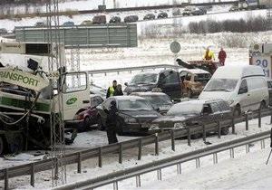 В России произошло массовое ДТП с участием около 40 автомобилей