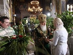 Тимошенко поздравила Патриарха Филарета с днем рождения