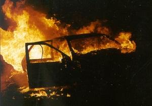 В Одессе на территории райотдела милиции сгорели два автомобиля