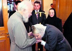 Тимошенко в СИЗО молится за выздоровление митрополита Владимира