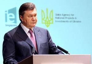 Янукович ожидает, что Украина в этом году станет лучшей по росту ВВП на континенте