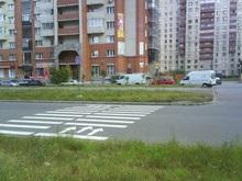 В Киеве появились разноцветные пешеходные переходы