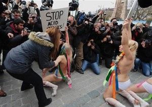 Активисток FEMEN выдворили из Турции после акции в Стамбуле