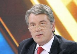 Ющенко обеспокоен  желтизной  украинского телевидения