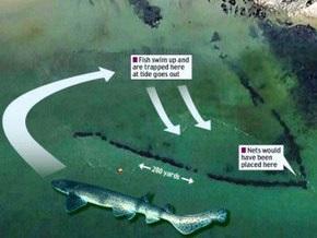 Google Earth увидел древнюю гигантскую ловушку для рыб