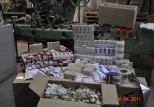 СБУ выявила крупнейший за пять лет подпольный цех по производству сигарет