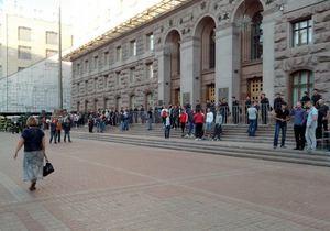 новости Киева - Киевсовет - митинг - Возле Киевсовета с ночи дежурят протестующие