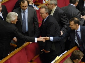 БЮТ требует от Ющенко внести представление на увольнение Стельмаха и Шаповалова