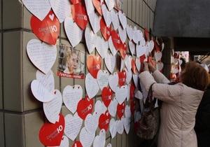 Сторонники Тимошенко пришли поздравить ее с днем рождения : въезд во двор СИЗО заблокирован
