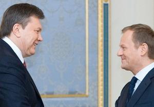 Янукович провел переговоры с Туском: Украина возлагает надежды на председательство Польши в ЕС