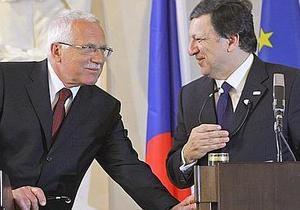 Президент Чехии раскритиковал позицию Баррозу по выходу ЕС из кризиса