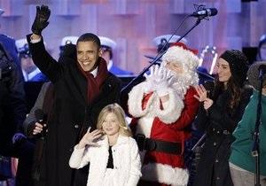 Обама зажег главную елку США и напомнил, что он христианин